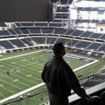 In Cowboys Stadium, a tour of Cotton Bowl and cheerleading headquarters